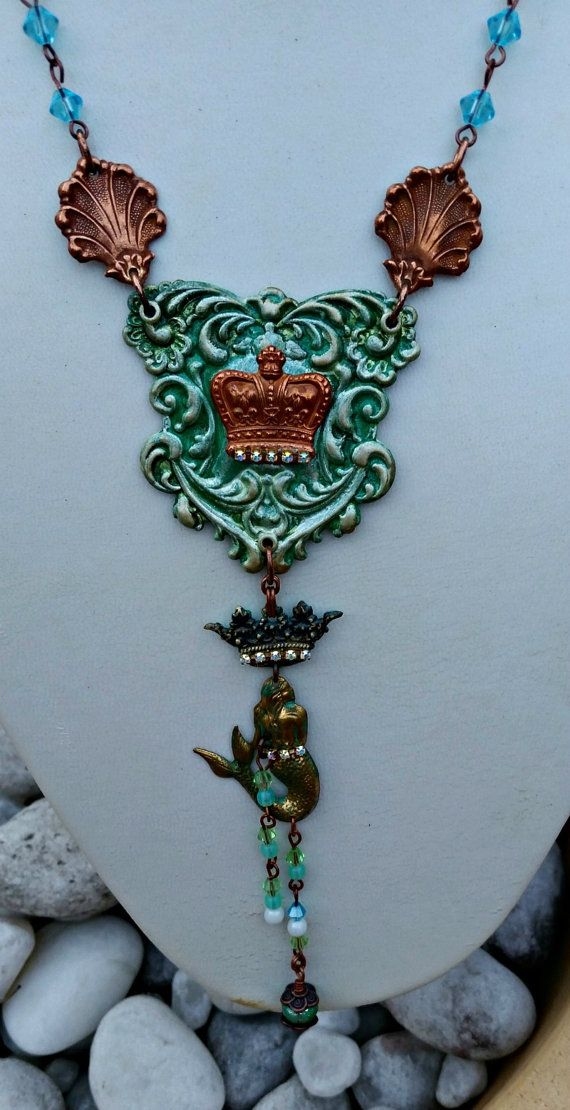 Check out this item in my Etsy shop https://www.etsy.com/au/listing/276794504/mermaid-queen-necklace