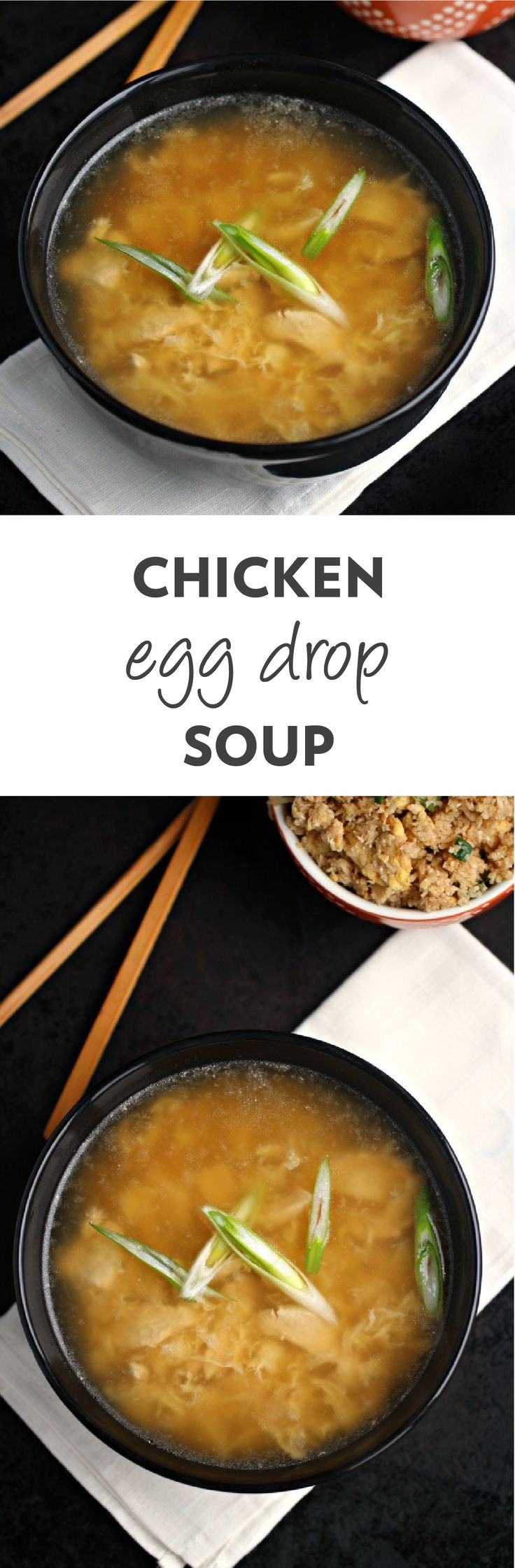 This easy Chicken & Egg Drop Soup recipe tastes just like your favorite Chinese take-out—only better! Soothing and comforting thanks to silky egg ribbons, savory broth, and mouthwatering chicken pieces, your taste buds—and your family—will thank you when you serve up this warm dish on the dinner table.