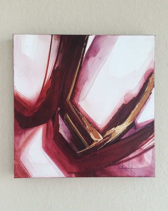 Deep Red Original abstract artwork. Acrylic on canvas.  Dimensions: 16 x 16 All paintings have been finished with gloss varnish to protect against fading. *No hanging hardware included.