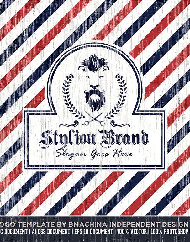 Stylion Brand Logo Template Bmachina Design Works Barbershop Design Brand Logo Logo Templates