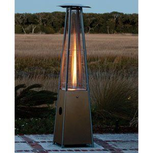 Mocha Pyramid Flame Patio Heater 40,000 Btu's, 10' Diameter Heat Range by Mocha Pyramid Flame. $446.01