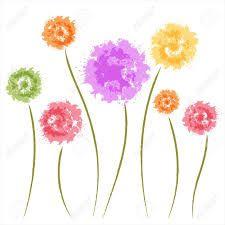 Resultado de imagen para flores acuarela