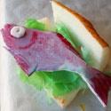 Je eigen 'broodje gezond?' Met verf, purschuim en restmaterialen.