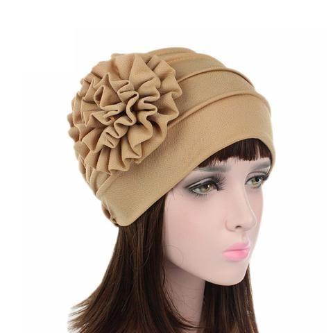 da337ecbe734b 1PC New Women Cotton Flower Hats Spring Summer Floral Beanie Hat Stretch  Muslim Turban Hat Chemo Cap Hair Loss Head Cap