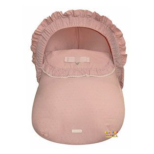 Maxi-Cosi hoes met roze Maxi-Cosi voetenzak