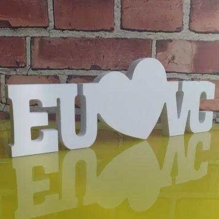 Palavra Decorativa EU & VC