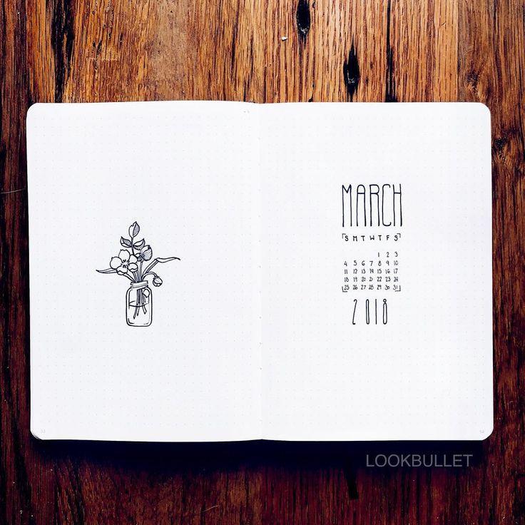 bullet journal monthly spread idea