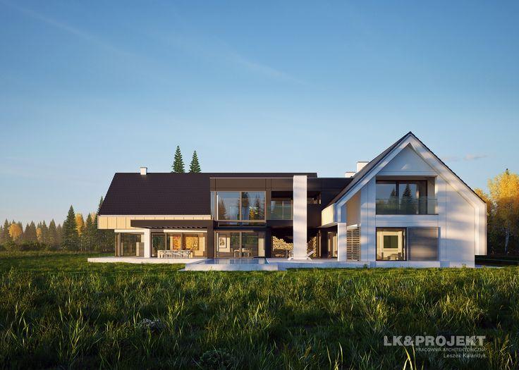 LK&1291 - nowoczesna rezydencja z obszernym tarasem i basenem  #lkprojekt #project #houseproject #house #modern #architecture #polisharchitecture #homesweethome #domjednorodzinny #singlefamilyhouse #exterior #build #dreamhome #dreamhouse http://lk-projekt.pl/lkand1291-produkt-9610.html