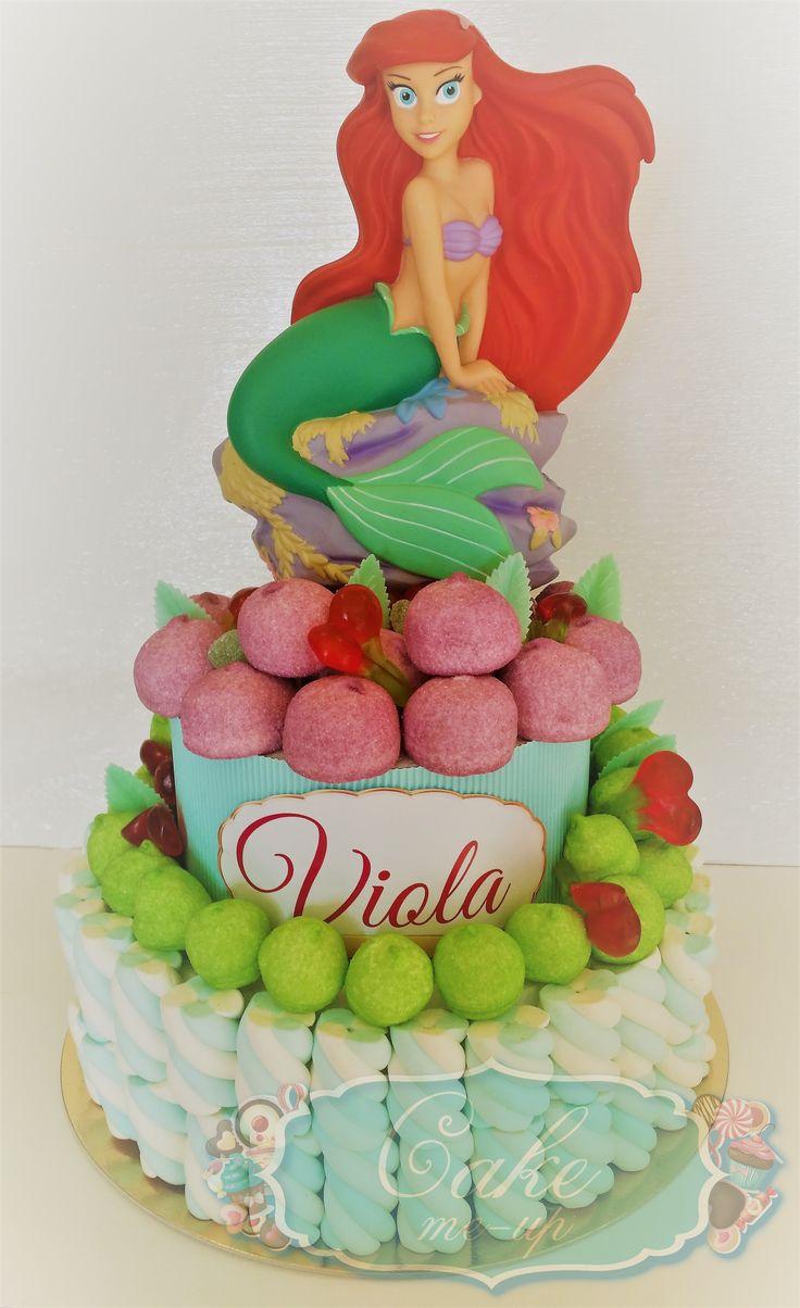 La Sirenetta, torta di caramelle, Candy Marshmallows Cake