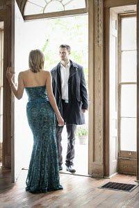 Stephen Carroll MAN AND WOMAN IN GRAND DOORWAY