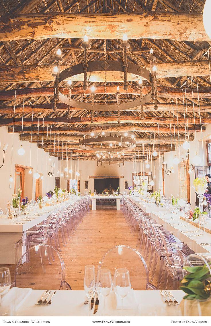 Wedding Photography - Yolandie & Ruan - Langkloof Roses in Wellington - Wedding reception - green decor