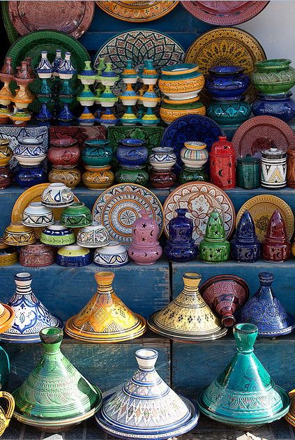 The Marketplace (Morocco) I can start my world travel wall of plates. The picture where the plates look like they're drifting in a breeze.