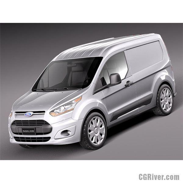 Ford Transit Connect Cargo 2014 Short - 3D Model