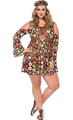 Adult Starflower Hippie Costume Plus Size - $39.99