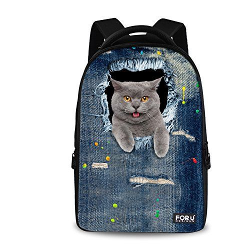 "New Trending Briefcases amp; Laptop Bags: HUGSIDEA Vintage Women Travel Laptop Denim Backpack Girls Cat School Bags. HUGSIDEA Vintage Women Travel Laptop Denim Backpack Girls Cat School Bags   Special Offer: $39.99      399 Reviews Welcome to HUGSIDEA;""hug creativity,hug life"",HUGSIDEA bring you into a magic kingdom. – Durable high quality 3d pattern backpack,smooth double zippers...."