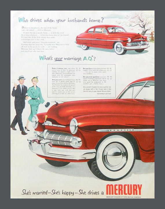 1950 Mercury Car Vintage Ad  Old Ford Advertising  Magazine