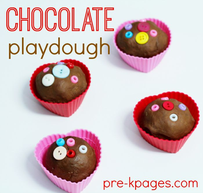Chocolate Playdough Recipe for Valentine's Day