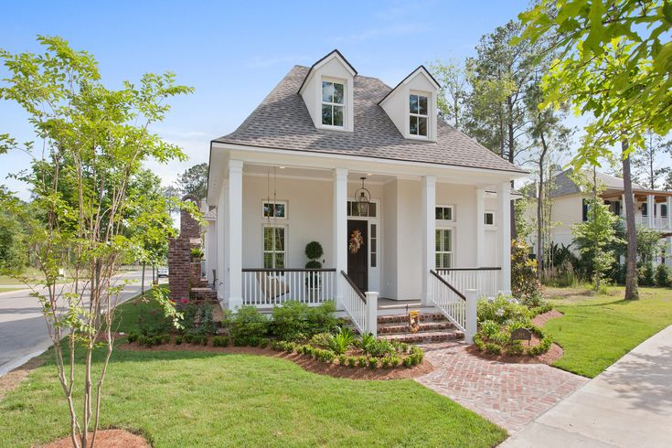 This quaint cottage sits in the Terra Bella Village in Covington, Louisiana.