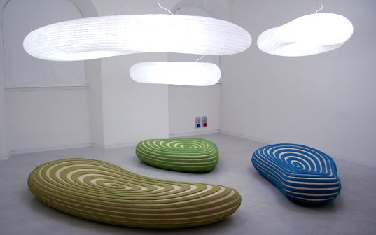 David Trubridge, one of New Zealand's most celebrated green designers, reincarnates natural forms as light fixtures and seating in his latest work, which he presented at Salone Internazionale del Mobile last week.