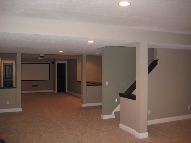 30 best basement ideas images on pinterest basement for Basement apartment layout ideas