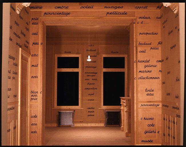 Marcel Broodthaers - L'espace de l'écriture