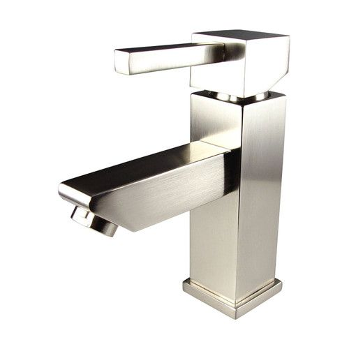 fresca versa single hole lowarc bathroom faucet in brushed the home depot