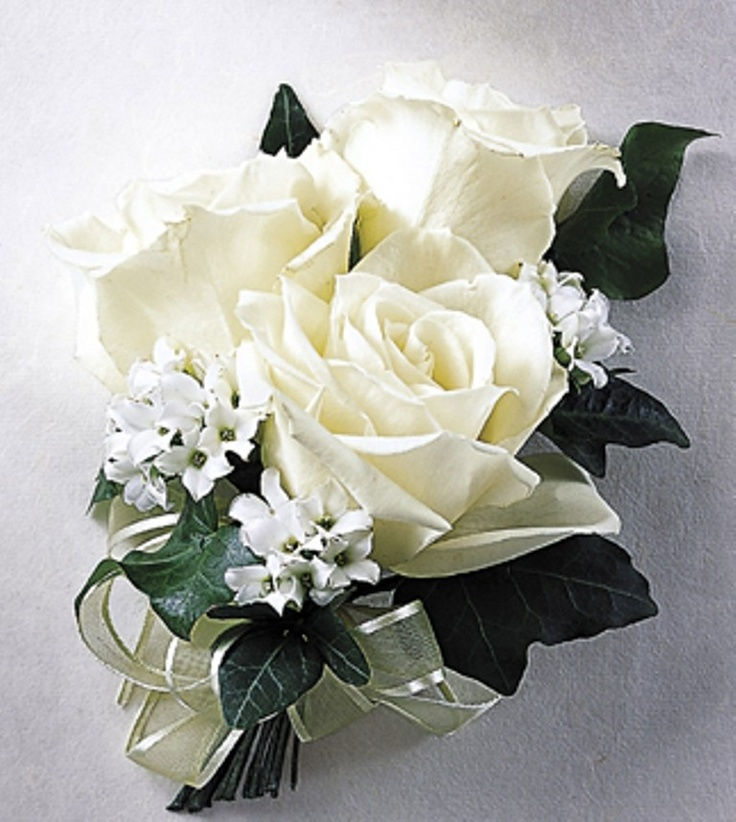 50 best corsages images on pinterest white rose wrist corsage mightylinksfo