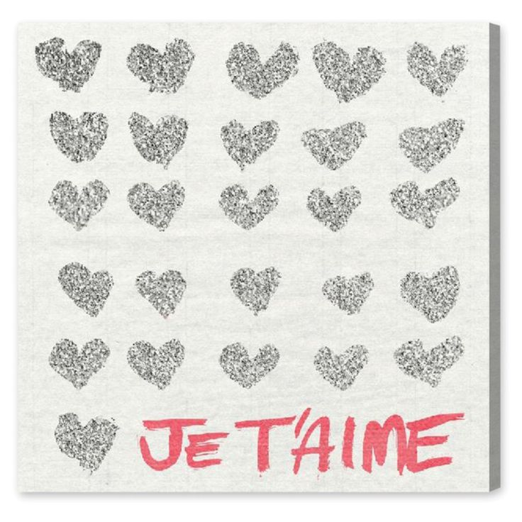 Oliver Gal Jetaime Glitter Canvas Wall Art - Score beaucoup points with your…