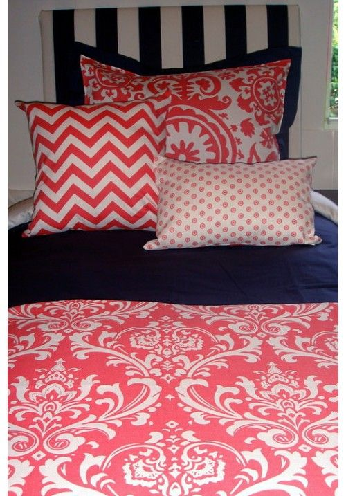 17 Best Images About Coral And Navy Bedding And Decor On Pinterest Custom Bedding Ux Ui