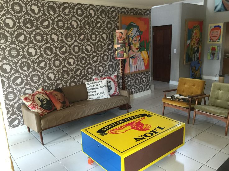 DIY Mach box coffee table  #Afrochic