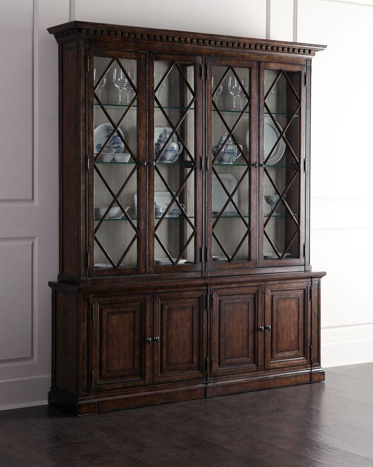 China Cabinet Made Of Elm And Pine Solids Oak Alder Wood