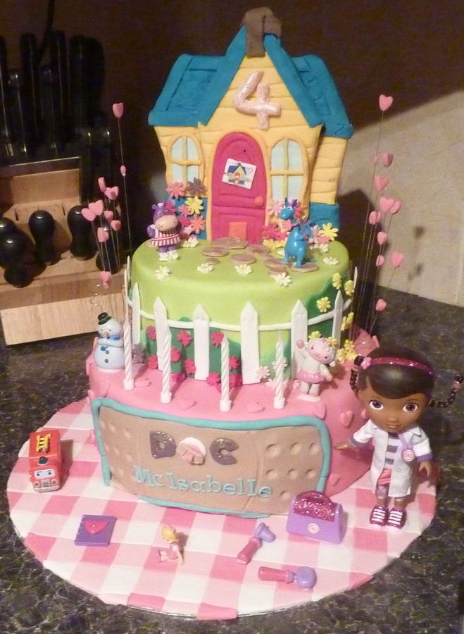 Doc mcstuffin cake I make for my daughter`s 4th birthday