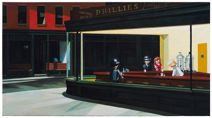 Noctámbulos, Edward Hopper.