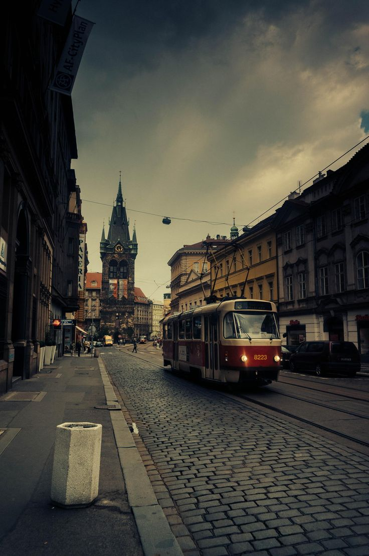 Prague Tram on Jindriska Street by Sergiu Odainic