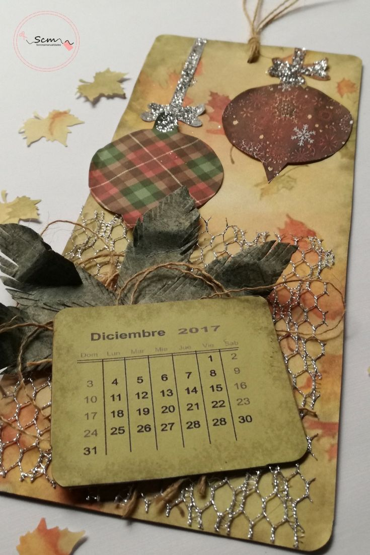 Tag calendario de adviento scrapbooking DIY