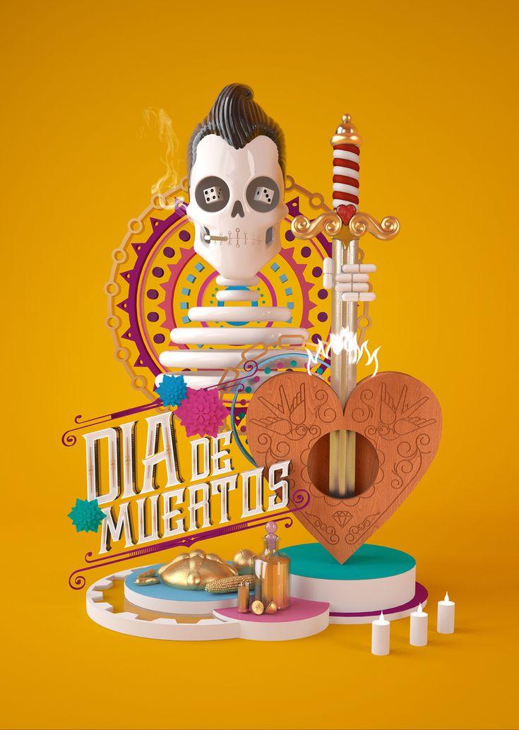 Día de muertos con Cinema 4D 0
