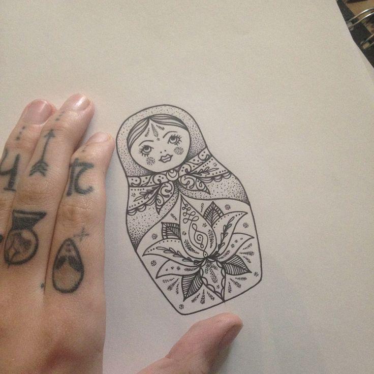 Russian Doll Tattoo by Medusa Lou Tattoo Artist - medusaloux@outlook.com