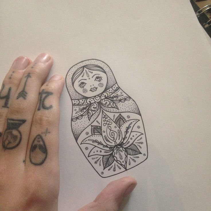 Russian Doll Tattoo by Medusa Lou Tattoo Artist - medusaloux@outlook.com
