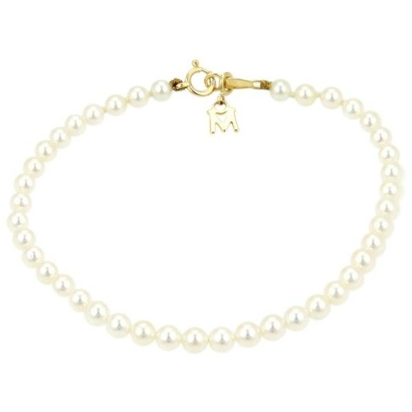 preowned mikimoto 18k yellow gold akoya pearl bracelet 695 liked on