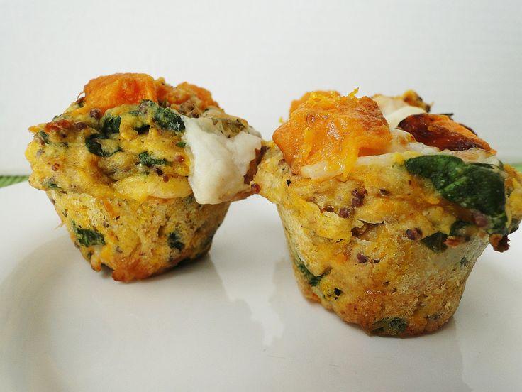 muffins de auyama y espinaca