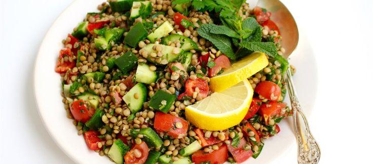 Libanesisk sallad med linser