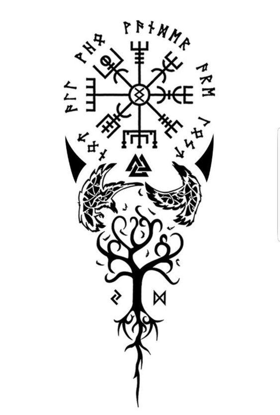 50 Wikinger Tattoo Ideen Und Interessante Symbole Der Nordischen Mythologie 50 Wikinger Tattoo Ideen Mythology Tattoos Norse Mythology Tattoo Nordic Symbols