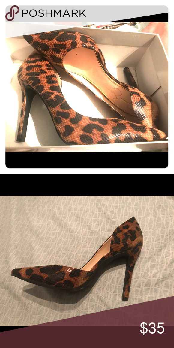 Jessica Simpson Heels Cheetah print Jessica Simpson Heels. Love the shoes, but they are too small for my feet (I usually wear a 9). Wore 1x. Jessica Simpson Shoes Heels