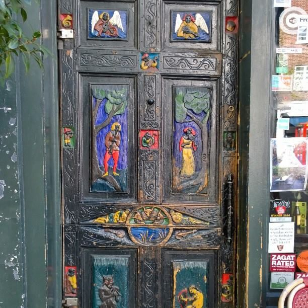 Front door at The Troubadour, London