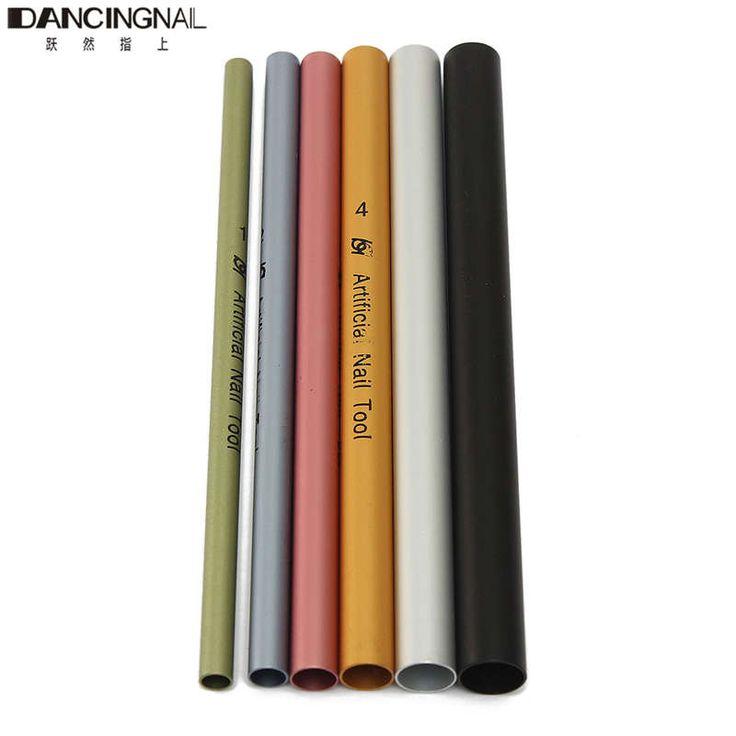 6 Stücke Für 1 Satz Nagelkunstwerkzeuge Unterschiedliche Größe Farbe Kurve Stange Sticks Künstliche Nagel Werkzeug Gestaltung Stick Freies verschiffen