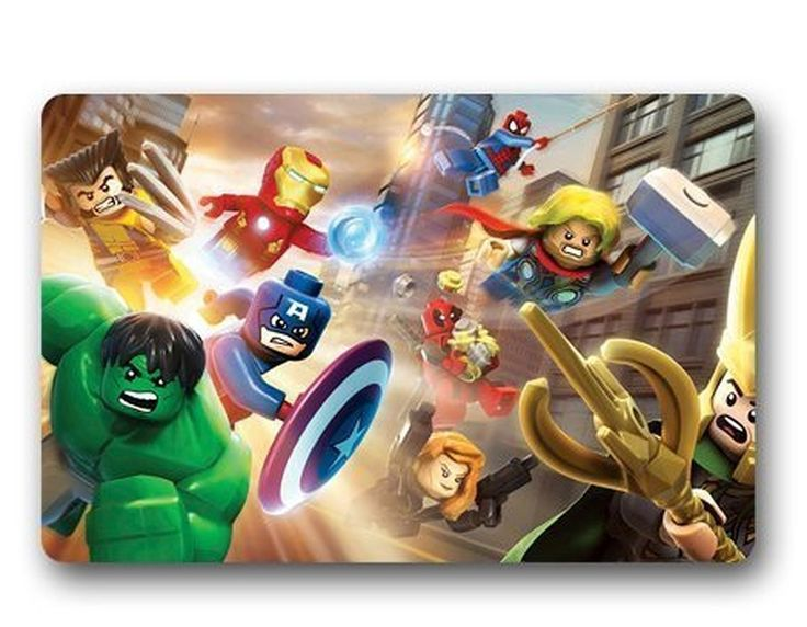 AmazonSmile: Shirley's Door Mats Lego Marvel Super Heroes Custom Machine-Washable Doormat Ins Floor Mat Gate Pad Cover 23.6 X 15.7 Inch: Home & Kitchen