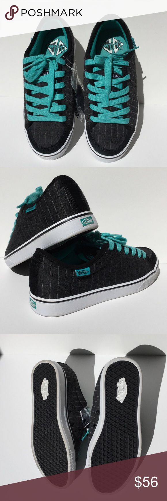 Vans Dollin Off the Wall Skate Shoes Teal  Vans Dollin Off the Wall Teal, Grey, and Black skate shoes. Brand new with extra set of black laces still attached in original packaging. I do not have the box. Vans Shoes
