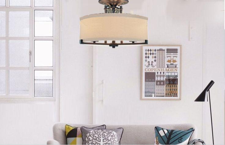 Ceiling fixtures Scandinavian minimalist living room bedroom Mediterranean Ceiling Light Covers American country round Lighting