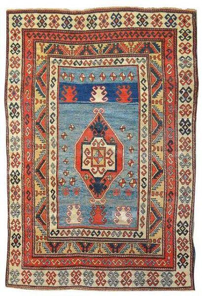 Lot 116, a Kazak, Caucasus, late 19th century. 207 x 145 cm. Nagel Auction Rugs & Carpets 25 March 2014