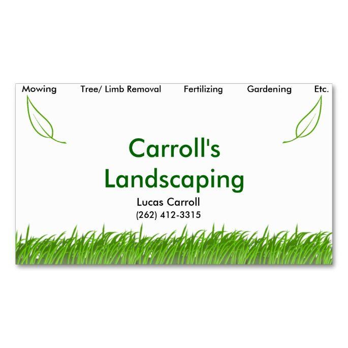 carrolls landscaping business card